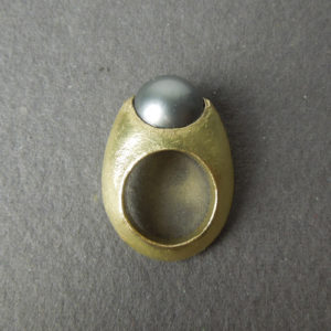 Anello  perla tahiti