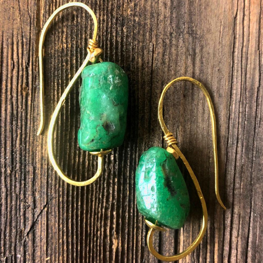 Orecchini oro e smeraldo naturale